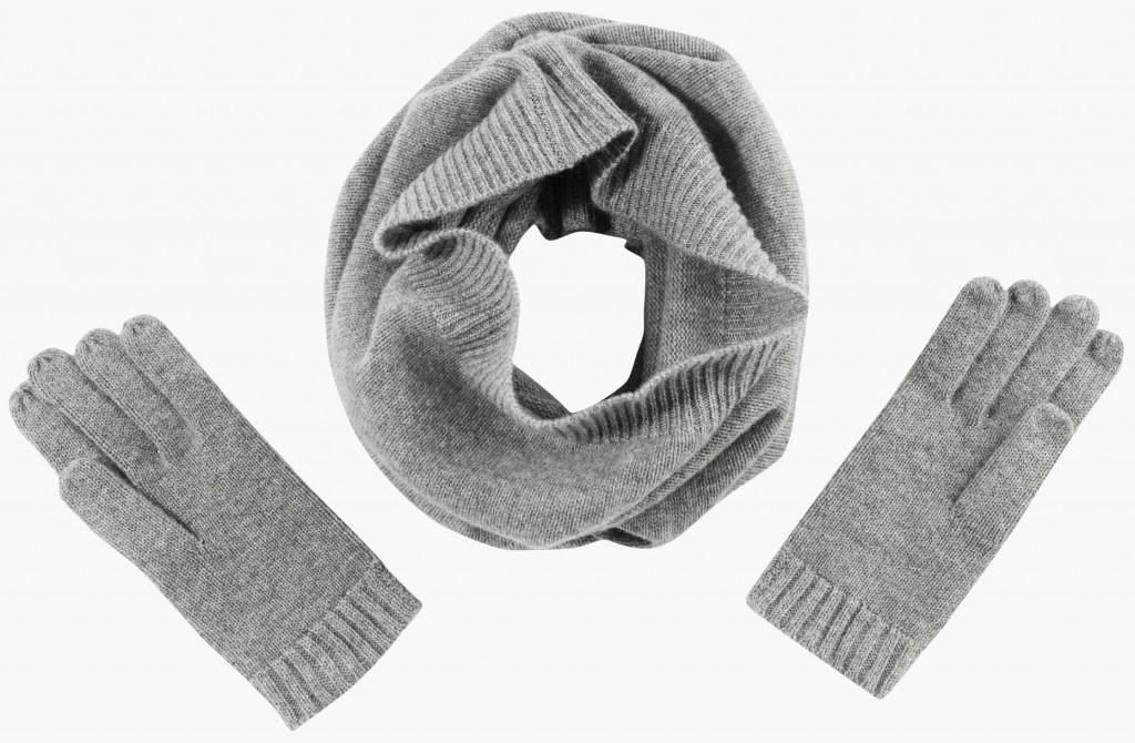 47.80 ensemble cachemire gris TEX de CARREFOUR