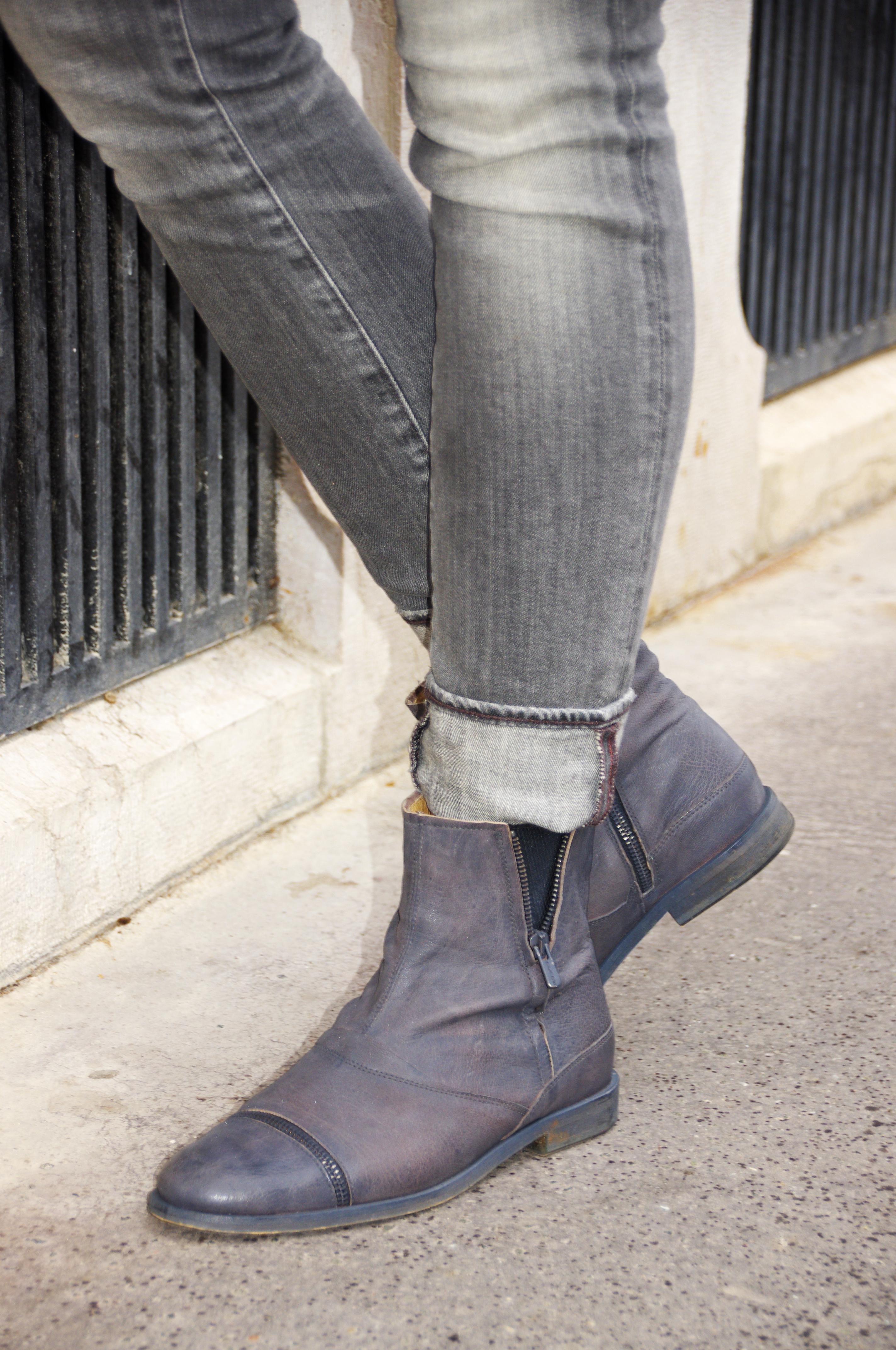 étole laine, écharpe laine, allée du foulard, gilet chaud, gilet thermolactyl, damart, tshirt rose, tshirt dentelle, new look, jean slim gris, ralph lauren, boots cuir, boots rock, Dkode