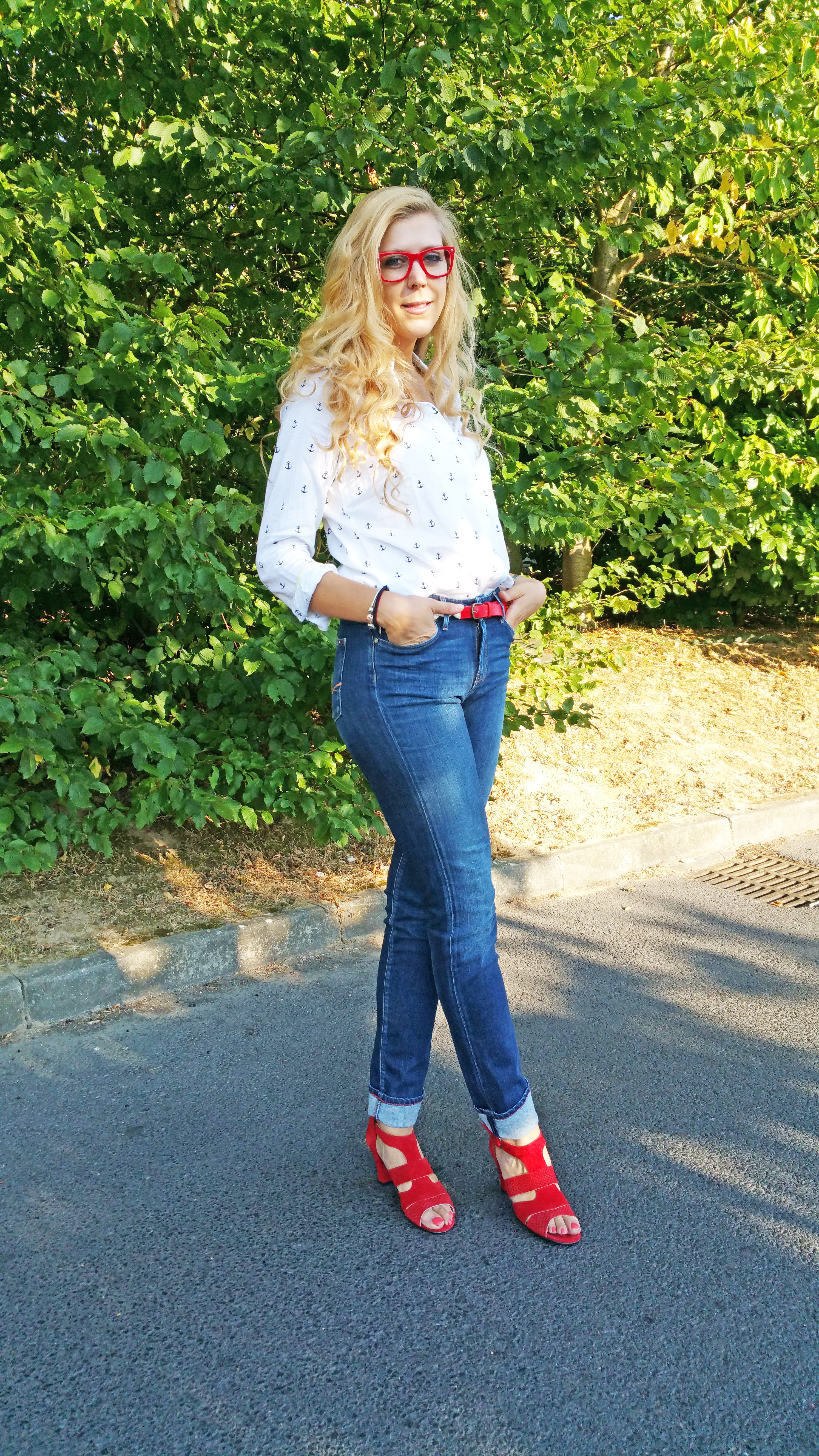 Jeans Tommy Rouge Sandale IsBsic