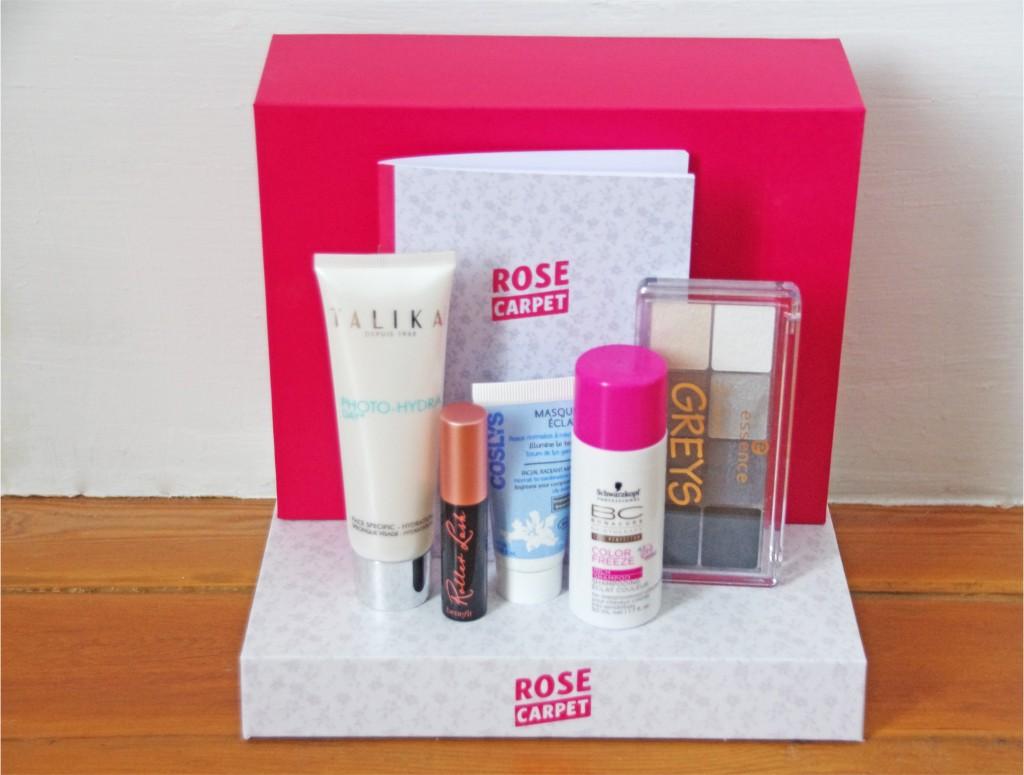 Glossybox, rose carpet, avis, revue, test beauté, produits beauté pas cher, youtubeuse, enjoyphoenix,tuto, review