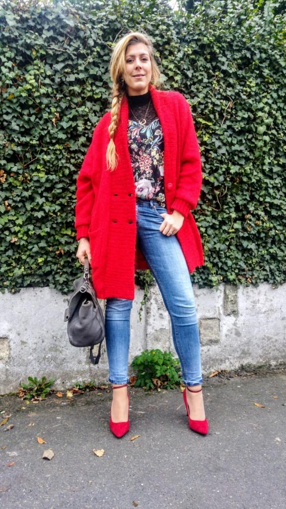Babou, bershka, stradivarius, primark, kiloshop, vintage, veste vintage, gilet laine tricoté main, veste laine, crop top, dentelle, lace top, jean taille haute, mom jean, jean super skinny, escarpins rouges, escarpins pas chers, look femme, ootd, tenue du jour, look du jour, lok casual, look soirée, blog mode, blogueuse mode