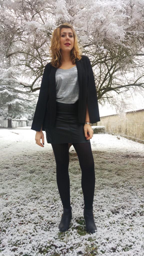 look fête, look nouvel an, babou, primark, new yorker, just fab, vintage, look soirée, tenue du nouvel an, blog mode, blogueuse mode, veste cape
