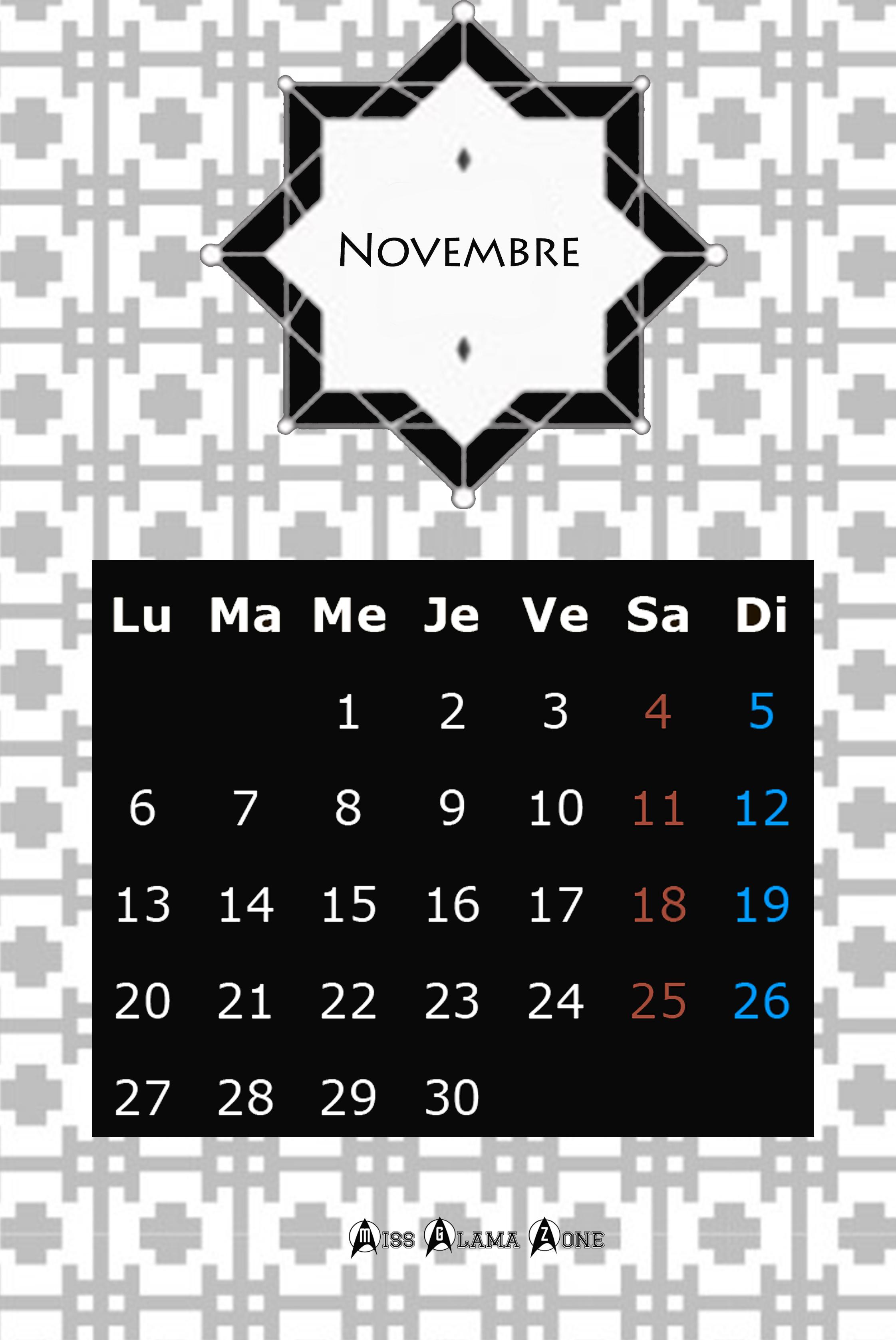 Calendrier 2017 gratuit et design missglamazone - Calendrier design ...
