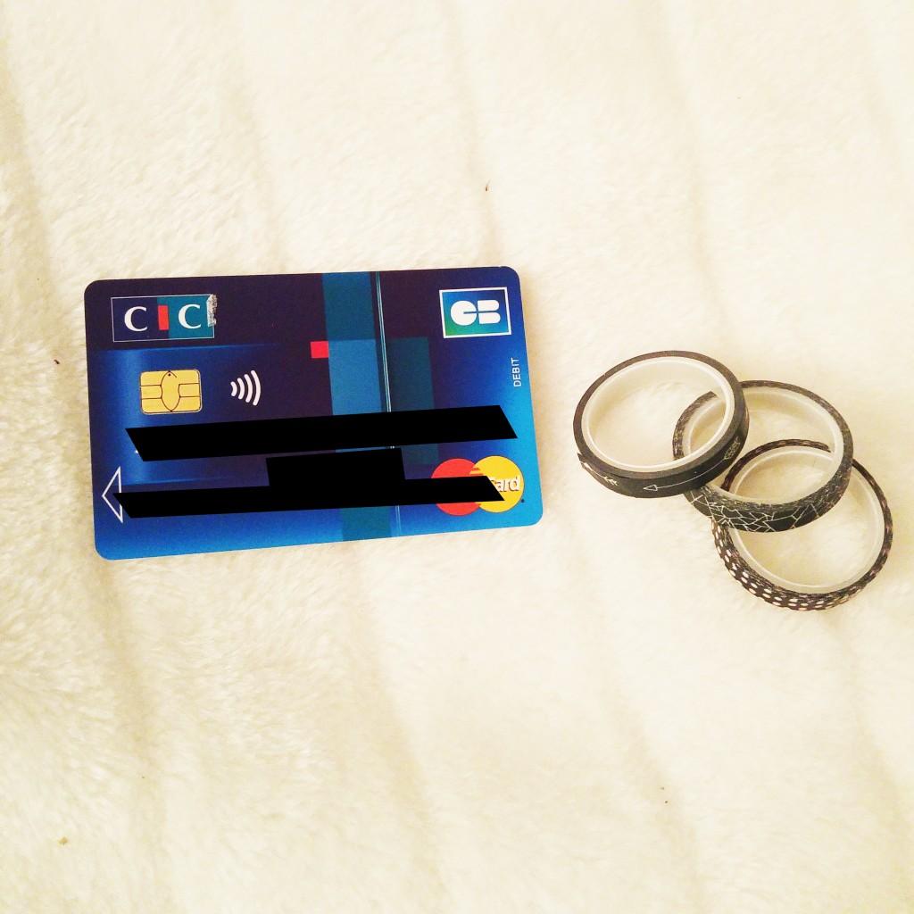 DIY, sticker carte bleue, sticker cb, customisation carte bleue, carte bleue personnalisée, diy, tutoriel customisation, blog diy, blogueuse diy
