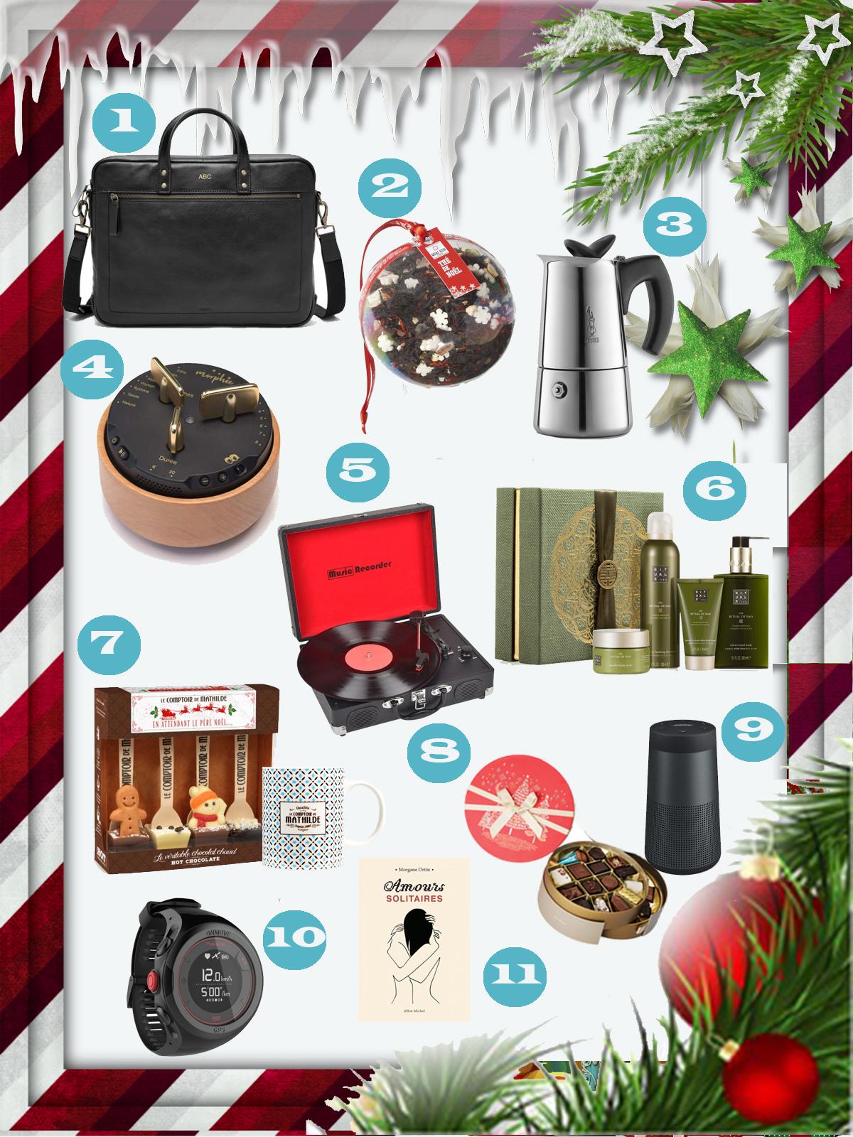 Ma liste d'idées cadeaux couple ou mixte pour Noël 2018 à